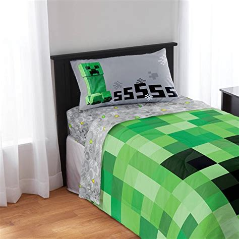 minecraft sheets and comforter minecraft 4pc twin comforter and sheet set bedding