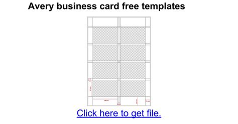 Business Card Template Free Docs by Business Card Templates Avery 28877 Choice Image Card