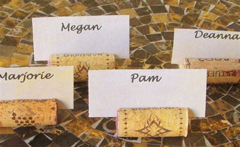 diy place card holders a bit of whimsy the culinary chase brightnest 10 diy wine cork projects