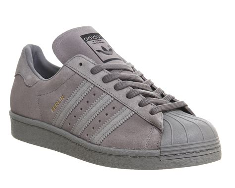 Adidas Grey adidas superstar 80s city pack grey berlin unisex