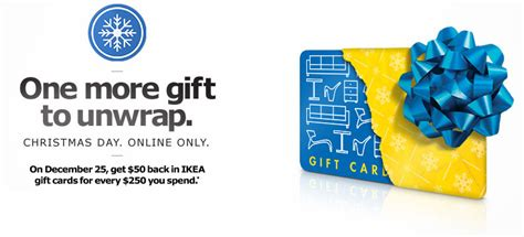ikea canada christmas day sale get 50 ikea gift card when you spend 250 online - Ikea Gift Card Online Canada
