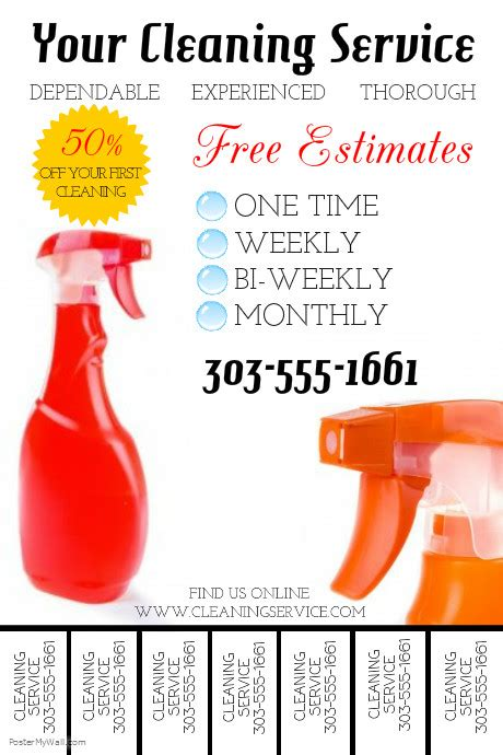 cleaning flyers templates free cleaning service template postermywall