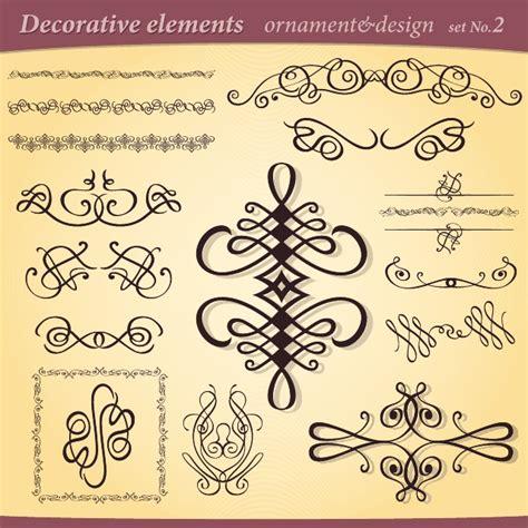 test calligrafia calligraphy decorative vector elements at