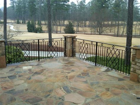 Patio Railing Exterior Wrought Iron Handrail Railing Mediterranean