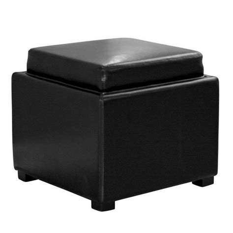 contemporary leather ottoman baxton studio tate contemporary black leather upholstered