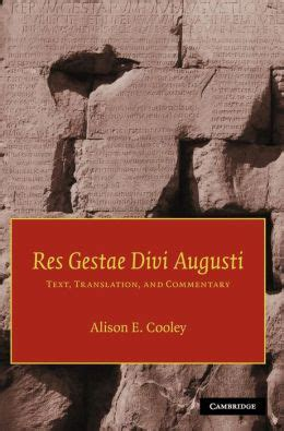 res gestae divi augusti translation res gestae divi augusti text translation and commentary