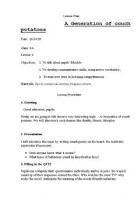 couch potato generation english worksheet a generation of couch potatoes