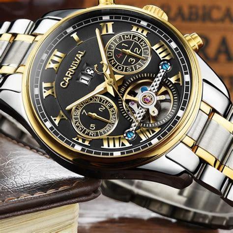 montre homme automatique top marque carnival luxe automatique acier inoxydable achat vente