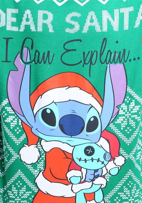 stitch tis  season womens ugly christmas sweatshirt