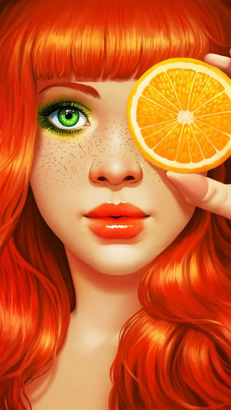 Orange Girlset 30 best images about iphone5 wallpaper on