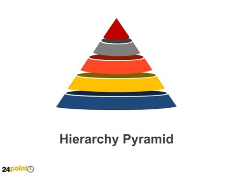 Hierarchy Pyramid Shapes Powerpoint Hierarchy Pyramid Template