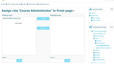 moodle theme editor moodle in english how to change front page permissions