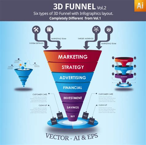 Sales Funnel Template 3d Vector Funnel By Blogankids On Deviantart Sales Funnel Website Template