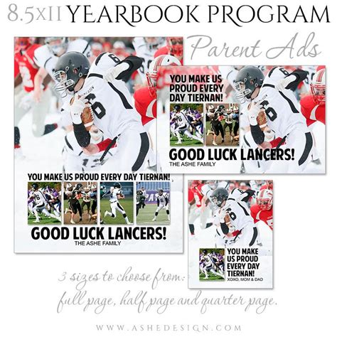 yearbook design application yearbook program parent ad set clean collage ashedesign