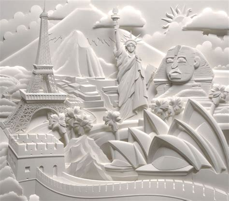 How To Make 3d Paper Sculptures - 15 spectacularly amazing paper arts web graphic design