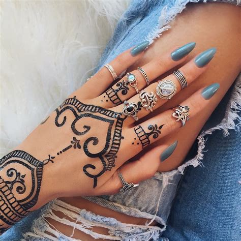 henna tattoo paint rings henna black henna nail paint jewelry