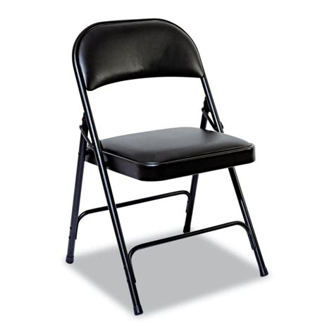 Steel Folding Chair by Alera Alefc9 Steel Padded Folding Chair Set Of 4 Atg