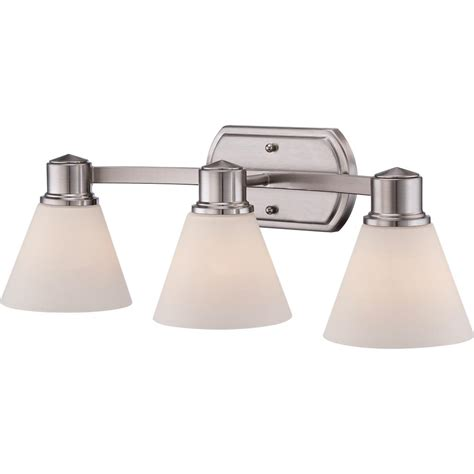 silver bathroom light fixtures quoizel ayr8603bn ayers with brushed nickel finish bath