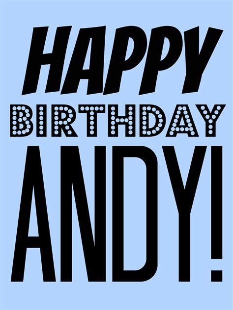 Happy Birthday Andy! ? sideshow