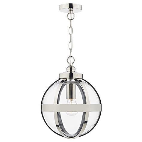 polished nickel pendant light heath 1 light pendant polished nickel