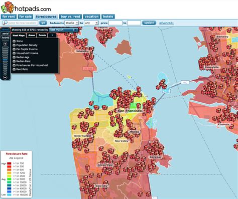 san francisco heat map heat map of san francisco foreclosures real data sf