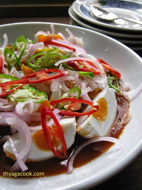 daun kari masakan malaysia kerabu telur masin