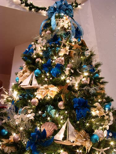 blue ocean themed christmas tree flickr photo sharing