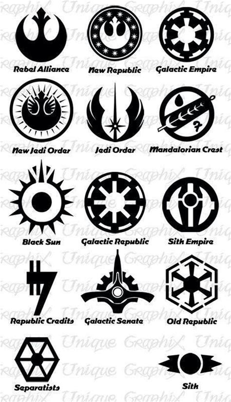 star wars symbols tattoos wars insignias war