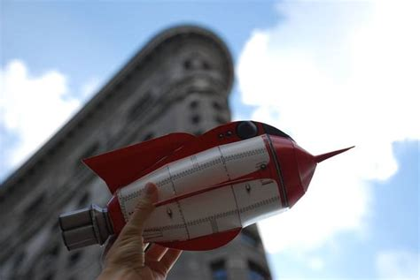 Rocket Papercraft - make your own papercraft tor stubby spaceship boing