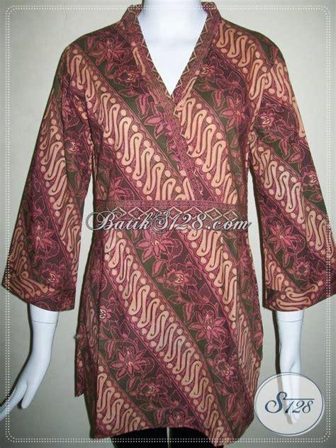 Dress Batik Kimono Model Trendi butik batik wanita trendy baju batik model kimono untuk