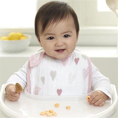 Stylish Muslin Snap Bibs Multi Layers Pink Elephant classic snap bibs breaker muslin baby burp cloth aden anais