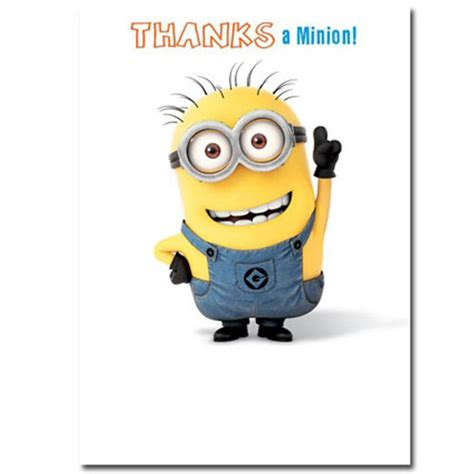 minion thank you card template free thanks a minion thank you card minion shop