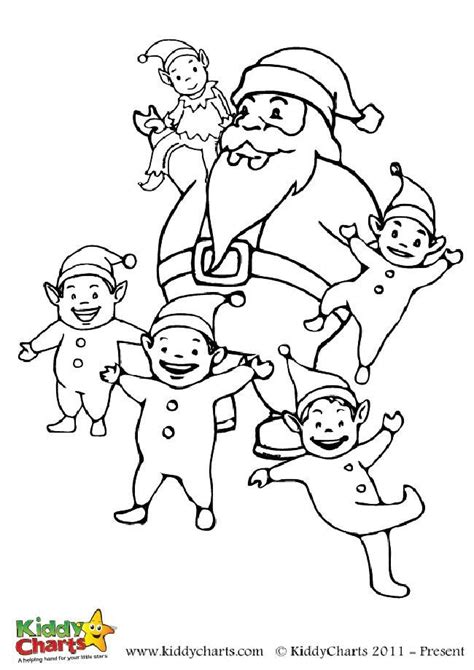 small elf coloring page free santa and his little elf colouring to download and print