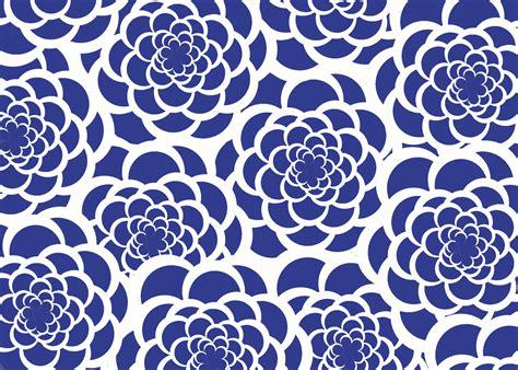 Muster Hintergrund Blumen Blau by Navy Blue Floral Pattern