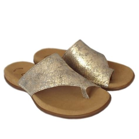 comfortable gold sandals gabor sandals lanzarote mules in light gold mozimo