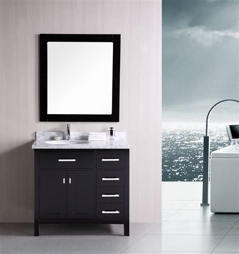 designer bathroom vanity adorna 36 quot contemporary bathroom vanity set espresso vanity