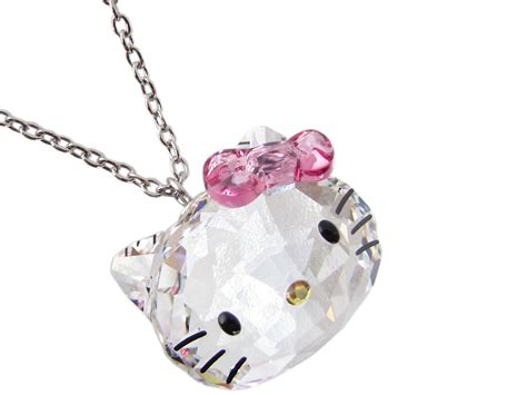 Crystal Decor For Home by Hello Kitty X Swarovski Crystal Pendant Necklace Japan