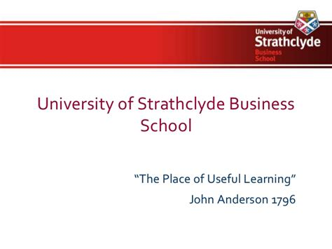 Of Strathclyde Mba by Strathclyde Business School