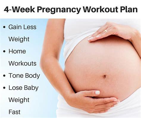 workout layout 4 week pregnancy workout plan michelle marie fit