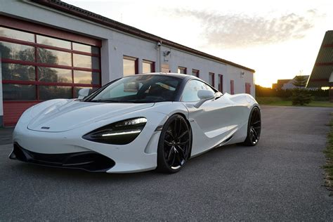 custom mclaren 720s mclaren 720s lowered on novitec mc1 wheels looks like a