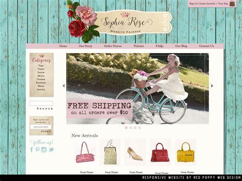 Boutique Website Ooak Website Design Ecommerce Website Template Rustic Chic Shabby Website Chic Website Templates