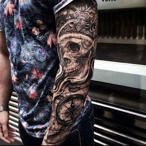 badass sleeve tattoos for men 67 most powerful crown tattoos for
