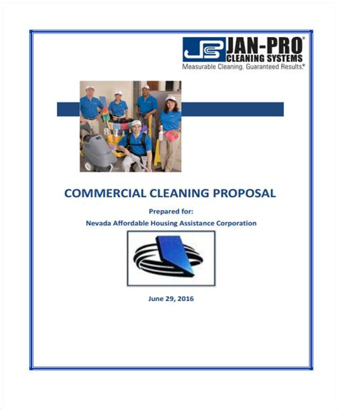 format absensi cleaning service 7 cleaning service proposal templates free sle
