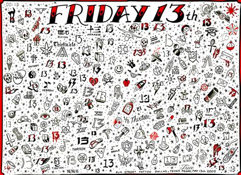 the number 13 tattoo designs friday the 13th at elm st time