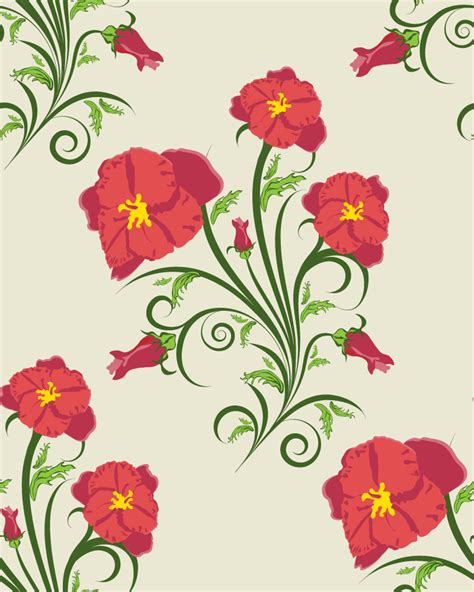 pattern flowers illustrator beautiful flowers illustration background pattern 03