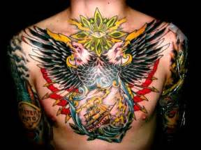 25 great chest piece tattoos creativefan