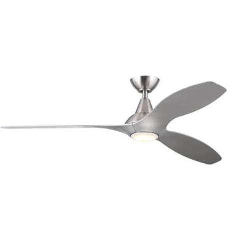 tidal ceiling fan tidal 56 in led indoor silver ceiling fan 04661