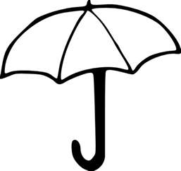Umbrella Line Draw Colouring Pages sketch template