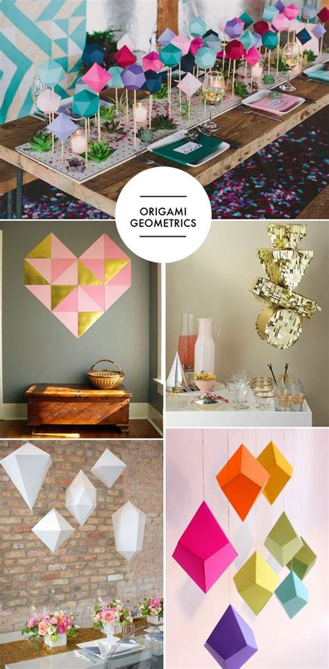 Origami Table Decorations - really into origami and these are actually pretty cool