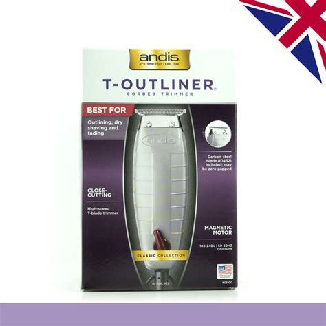 Andis T Outliner Blade Uk by Andis T Outliner Hair Trimmer Corded Fitted With Uk 3 Pin Authentic Ebay
